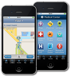 MediLocator navigation and home screens
