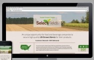 Select Fields website closeup